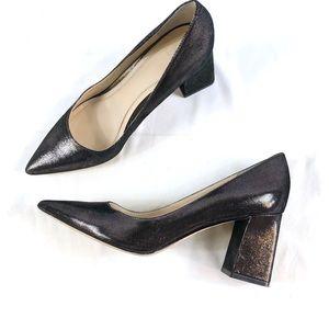 Marc Fisher Zala pump metallic chunky heels sz 8.5
